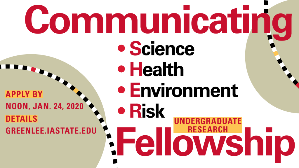 Communicating Science, Health, Environment, Risk Undergraduate Research Fellowship graphic