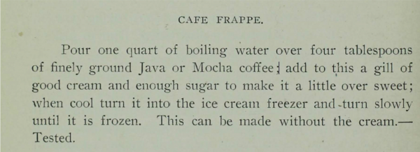 Cafe Frappe recipe