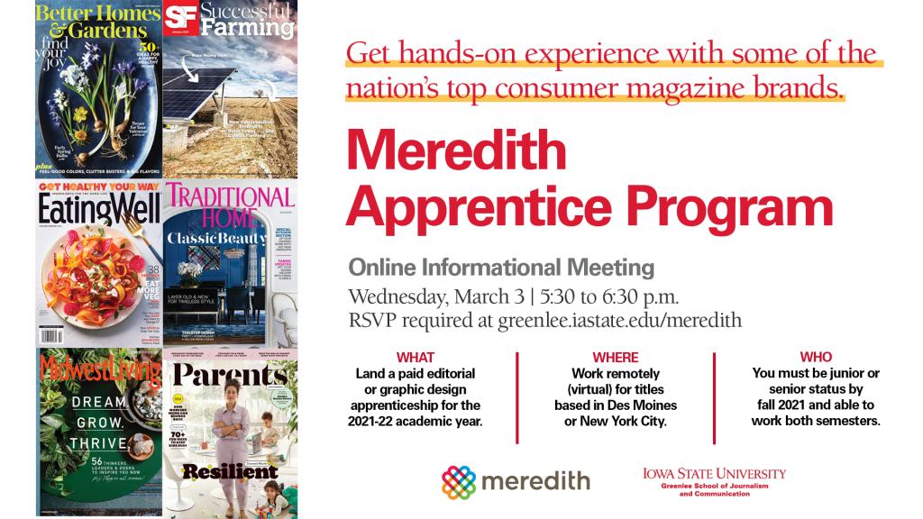 Meredith Apprentice Program Info Meeting graphic